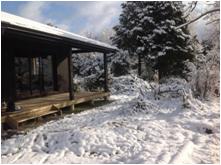 西脇市黒田庄にも年に1~2回雪が積もります。
