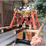 子供神輿の宮入りを行われます。