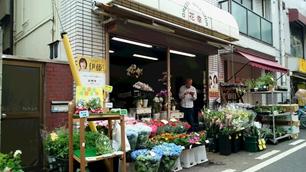 """今月から花屋""""花幸""""さんの店先でも販売しています。家庭菜園仲間からの出品もあり安心安全野菜の輪が拡っています。"""